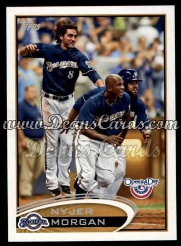 2012 Topps Opening Day #164  Nyjer Morgan