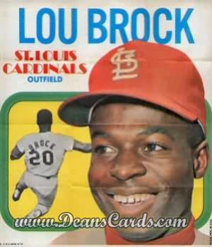 1970 Topps Poster Inserts #4  Lou Brock