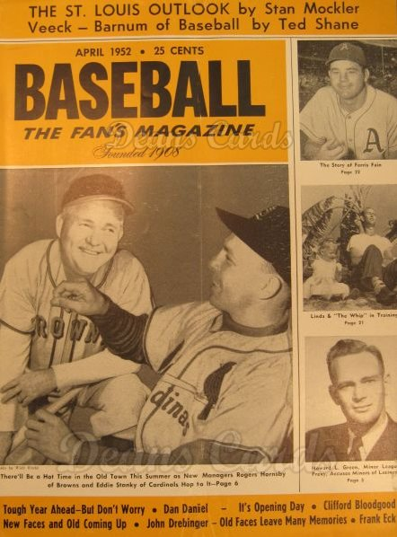 1952 Baseball Magazine    April