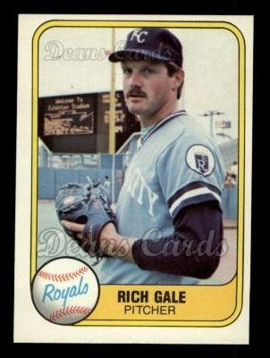 1981 Fleer #40  Rich Gale