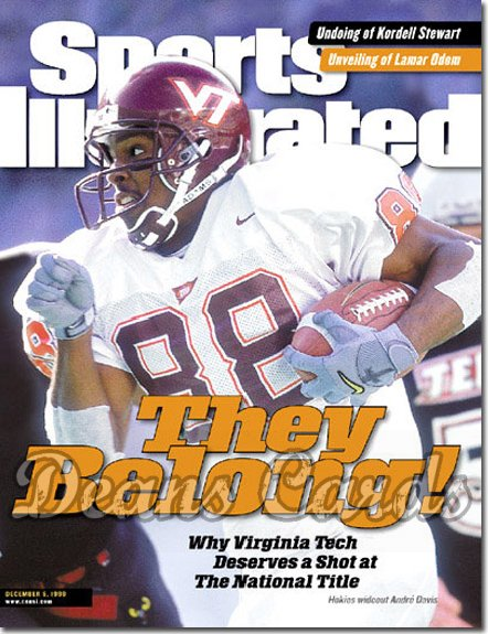 1999 Sports Illustrated - With Label   December 6  -  Andre Davis Virginia Tech Hokies