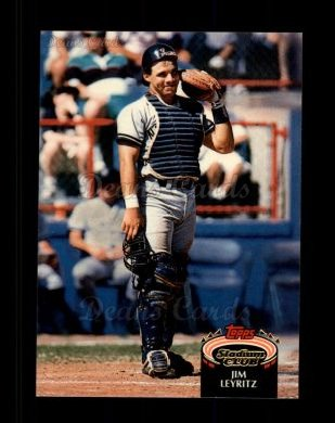 1992 Topps Stadium Club #198  Jim Leyritz