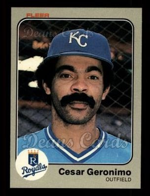 1983 Fleer #112  Cesar Geronimo