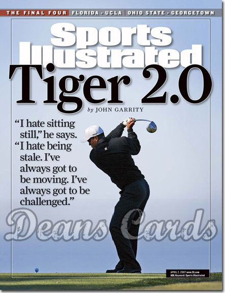 2007 Sports Illustrated   April 2  -  Tiger Woods Golf