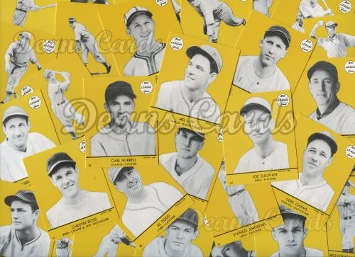1941 Goudey Reprint    Goudey Yellow Reprint Complete Set