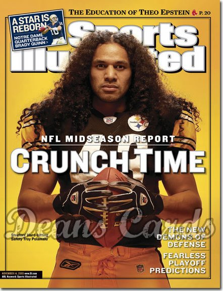 2005 Sports Illustrated - With Label   November 14  -  Troy Polamalu Pittsburgh Steelers