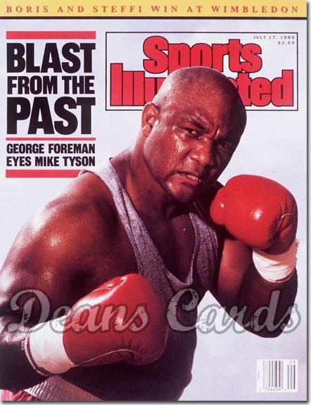 1989 Sports Illustrated - With Label   July 17  -  George Foreman