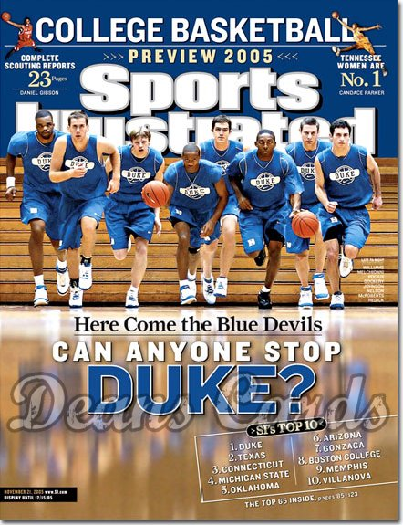 2005 Sports Illustrated - No Label   November 21  -  Duke College Basketball Preview
