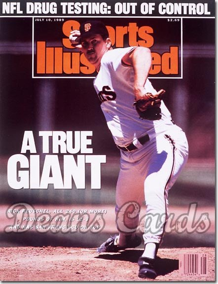 1989 Sports Illustrated - No Label   July 10  -  Rick Reuschel (San Francisco Giants)