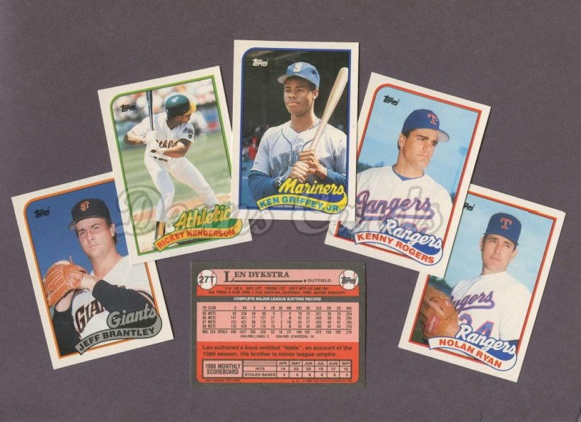 1989 Topps     Baseball Traded Complete Set