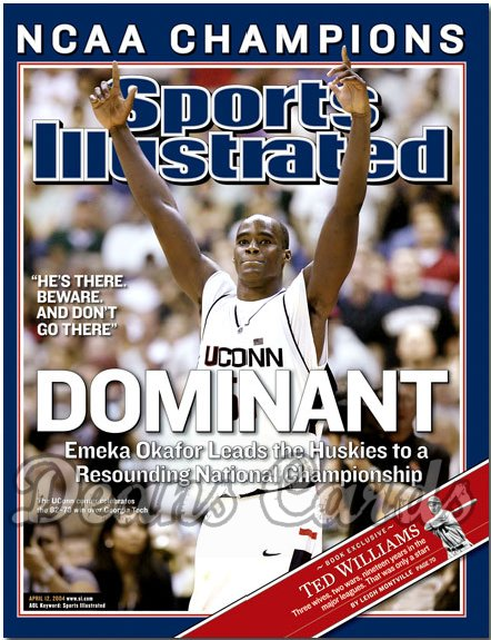 2004 Sports Illustrated   April 12  -  Omeka Okafor UCONN Wins NCAA