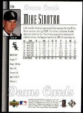 2001 Upper Deck #134  Mike Sirotka