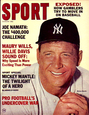 1965 Sport Magazine   -  Mickey Mantle  August