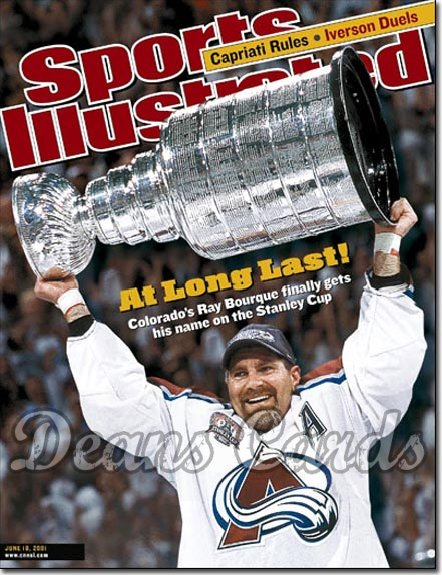 2001 Sports Illustrated   June 18  -  Ray Bourque Colorado Avalanche