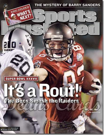 2003 Sports Illustrated   February 3  -  Joe Jurevicius (Buccaneers) Tory James (Raiders)