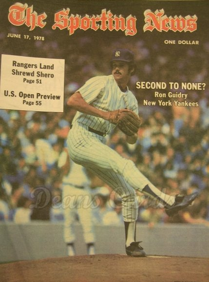 1978 The Sporting News   June 17  - Ron Guidry / Dave Concepcion