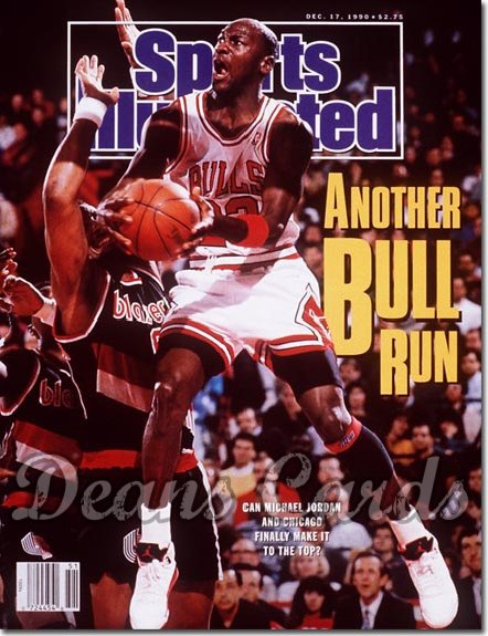 1990 Sports Illustrated - With Label   December 17  -  Michael Jordan (Chicago Bulls)