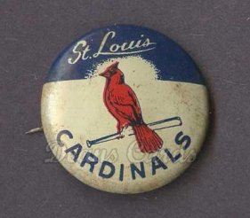 1969 Cranes Potato Chip Pin #18   St. Louis Cardinals