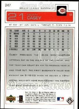 2003 Upper Deck #247  Sean Casey