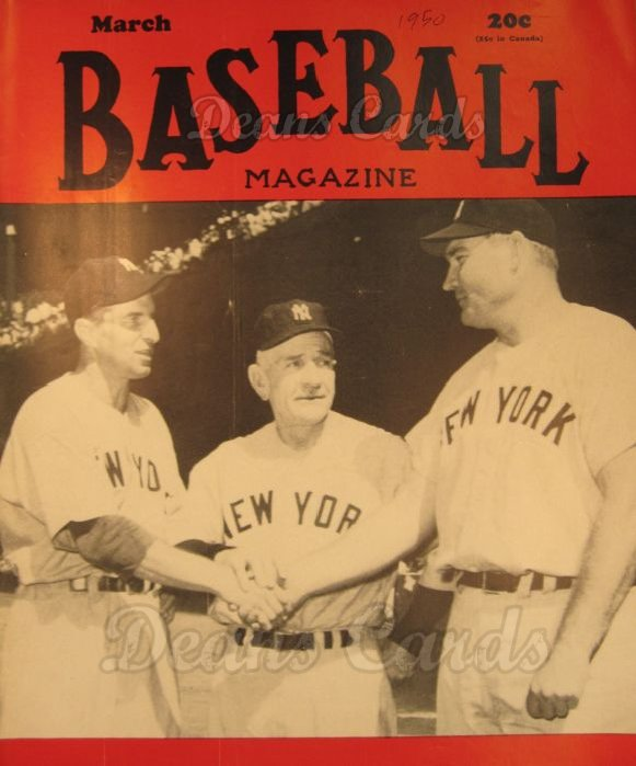 1950 Baseball Magazine    March