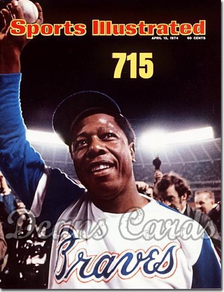 1974 Sports Illustrated - With Label   April 15  -  Hank Aaron (Atlanta Braves