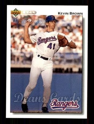 1992 Upper Deck #578  Kevin Brown