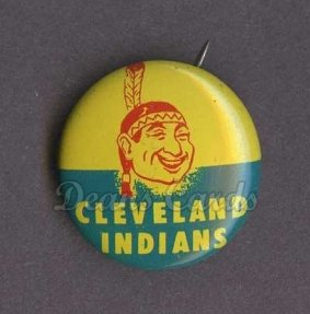 1965 Guys Potato Chip Pin #6   Cleveland Indians