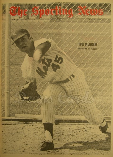 1969 The Sporting News   April 26  - Tug McGraw / new expansion teams
