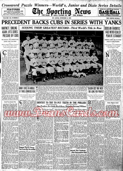 1938 The Sporting News   October 6  - World Series Coverage