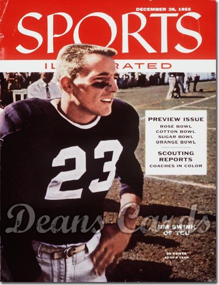 1955 Sports Illustrated - With Label   December 26  -  Jim Swink TCU Horned Frogs