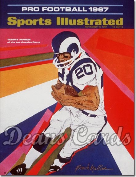1967 Sports Illustrated - With Label   September 18  -  Tommy Mason Los Angeles