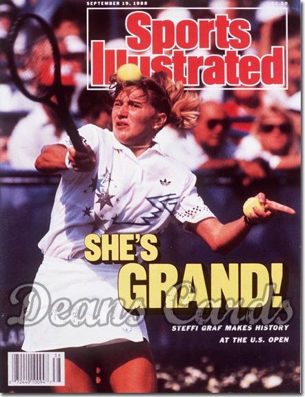 1988 Sports Illustrated - With Label   September 19  -  Steffi Graf