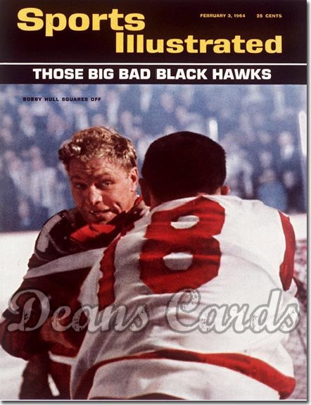 1964 Sports Illustrated - With Label   February 3  -  Bobby Hull (Chicago Blackhawks)