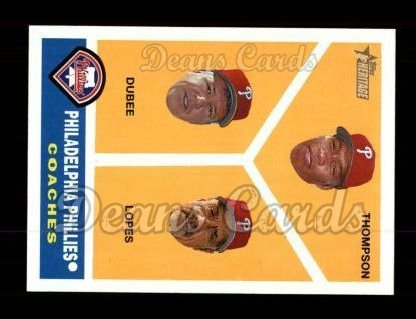 2009 Topps Heritage #466  Davy Lopes/Milt Thompson/Rich Dubee
