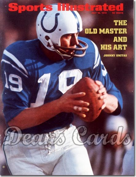 1972 Sports Illustrated - With Label   July 10  -  Johnny Unitas (Baltimore Colts)