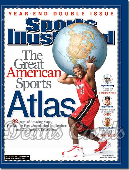 2004 Sports Illustrated   December 27  -  Shaquille O'Neal Miami Heat Sports Atlas Year