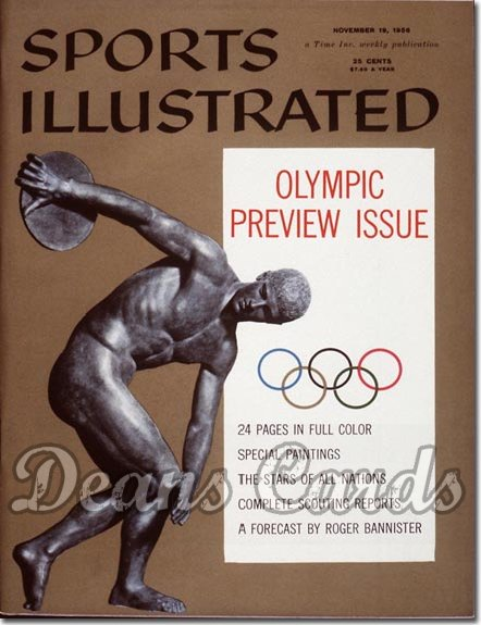 1956 Sports Illustrated - No Label   November 19  -  Olympic Preview