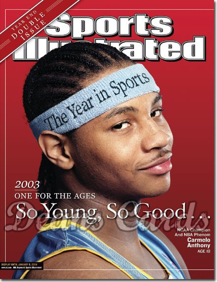 2003 Sports Illustrated   December 29  -  Carmelo Anthony (Nuggets) Jack McKeon (Marlins)