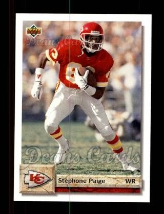 1992 Upper Deck #243  Stephone Paige