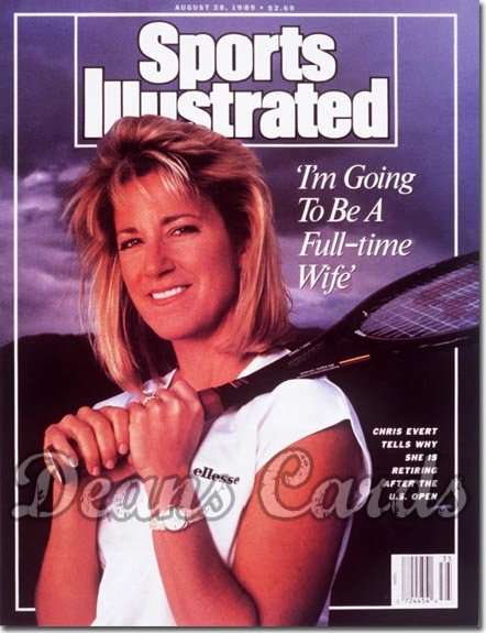 1989 Sports Illustrated - With Label   August 28  -  Chris Evert