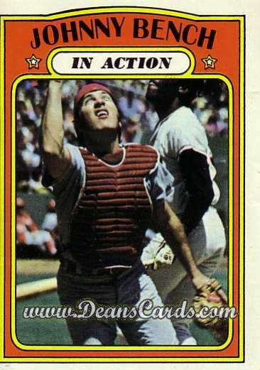 1972 O-Pee-Chee #434   -  Johnny Bench In Action
