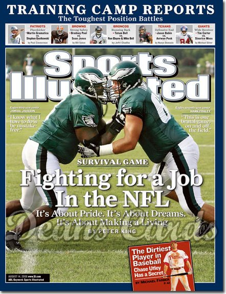 2006 Sports Illustrated - With Label   August 14  -  Jamaal Jackson Hank Fraley Eagles