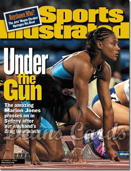 2000 Sports Illustrated - With Label   October 2  -  Marion Jones (Olympics)