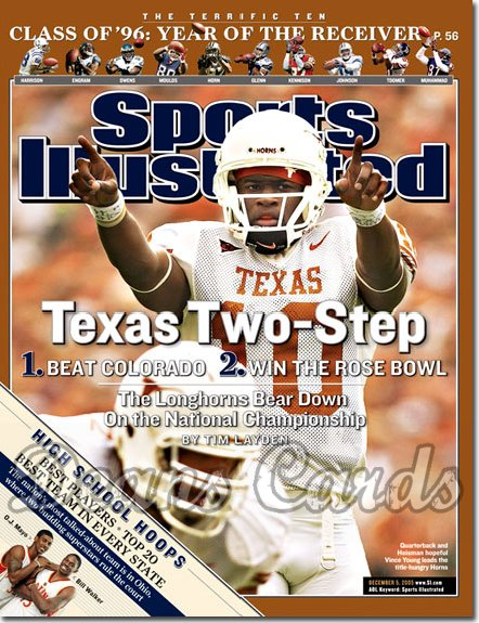 2005 Sports Illustrated - With Label   December 5  -  Vince Young Texas