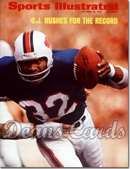 1973 Sports Illustrated - With Label   October 29  -  O.J. Simpson (Buffalo Bills)