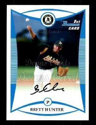 2008 Bowman Draft Prospect #34 BDPP Brett Hunter