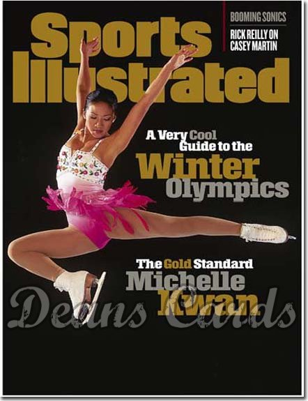 1998 Sports Illustrated - With Label   February 9  -  Michelle Kwan (Olympics Figure Skating / Skater)