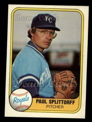 1981 Fleer #30  Paul Splittorff