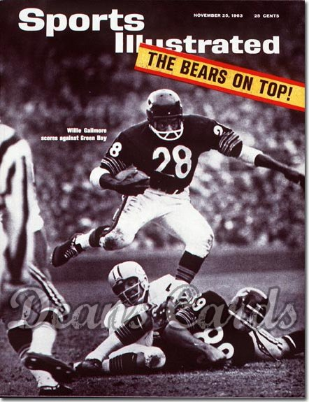 1963 Sports Illustrated - No Label   November 25  -  Willie Galimore & Mike Ditka Chicago