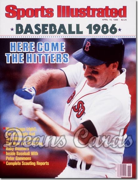 1986 Sports Illustrated - With Label   April 14  -  Wade Boggs (Boston Red Sox) (Baseball Issue)